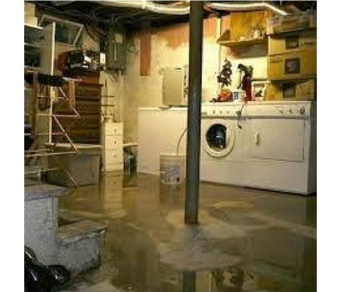Water Damage Flooded Basement